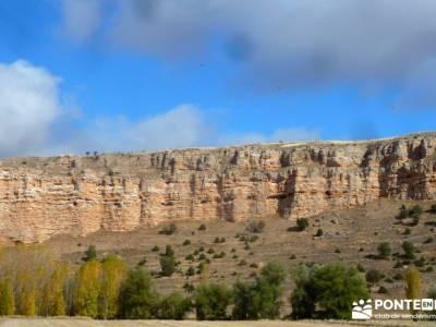 Hoces Río Riaza - Villa Ayllón; mapa y brujula río bidasoa el salto del gitano